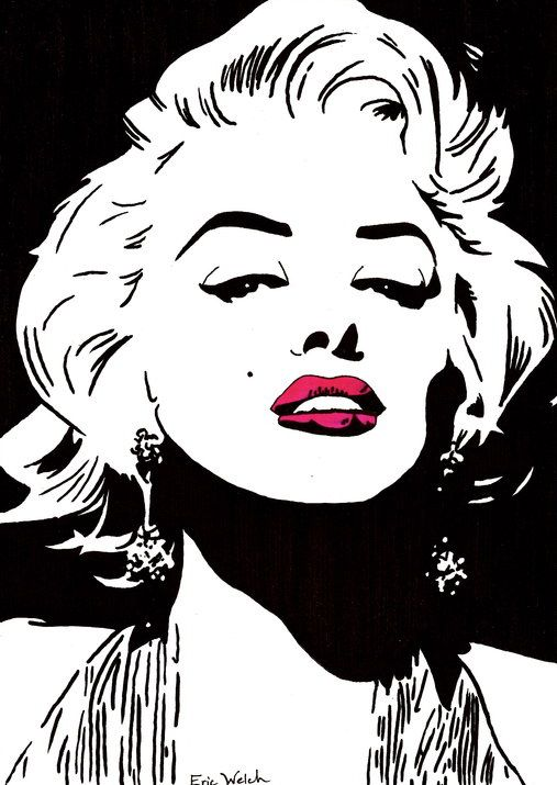 Marilyn Monroe. i wish i could draw like this