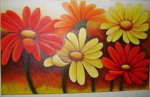 cuadros de margaritas de colores - Buscar con Google