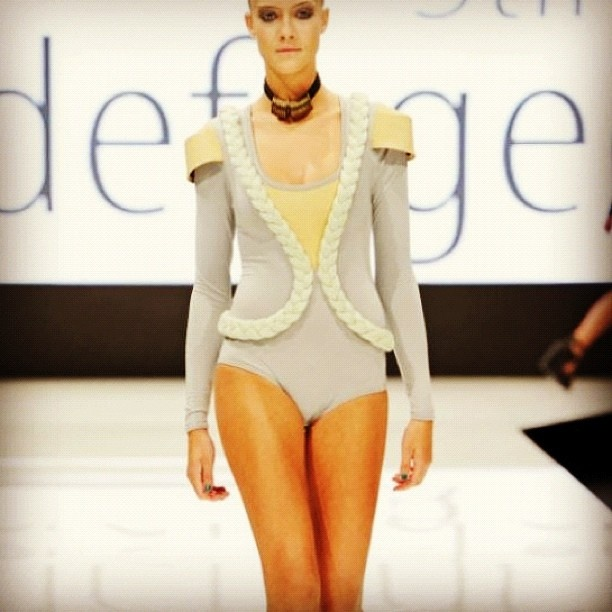 Stine Ladefoged SS12 show  #fashion #design #fashionshow #CFW #fashionweek #knitwear #show #summer