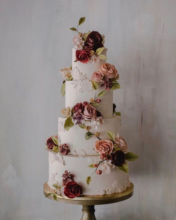 Mouth-watering Floral Wedding Cakes for Spring and Summer – Wedding