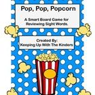 """It doesn't matter if you call them sight words, red words or popcorn words,this is the game for you! This """"popcorn"""" themed Smart Board game is inte..."""