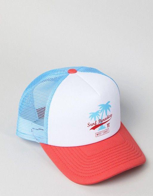 11 Degrees trucker cap with surf embroidery  8af15f351af