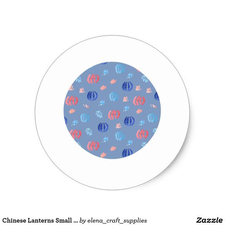 Chinese Lanterns Small Glossy Round Sticker