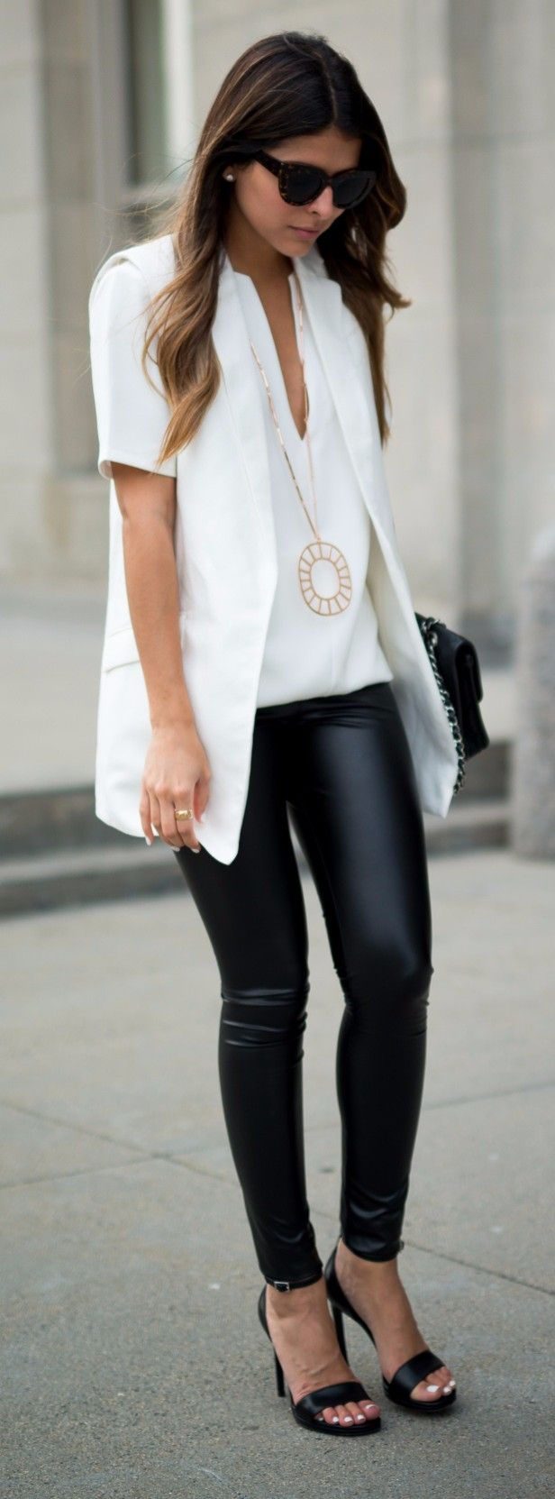 Black and white outfit to wear to the office
