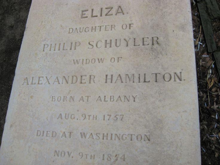 Elizabeth Schuyler Hamilton grave, Trinity Church, NYC, south graveyard