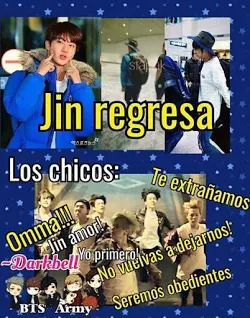 memes jin bts bagatn boys jajaja quien los va a cuidar y hacerles la comida jin regresa!!! jajaja