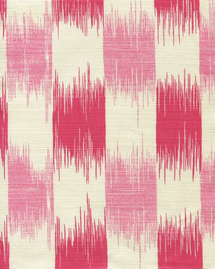 Quadrille Ikat Magenta and Pink
