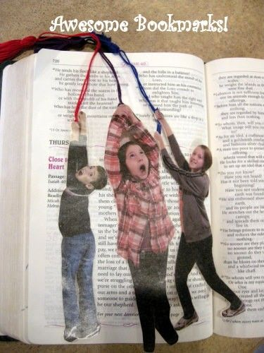 Genius! Cute bookmark idea