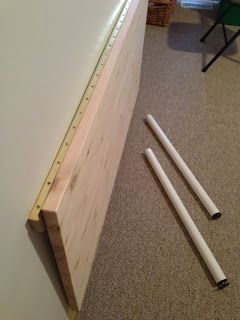 Bill's Fold Down Wall Mounted Desk: How to build a wall mounted fold down desk table