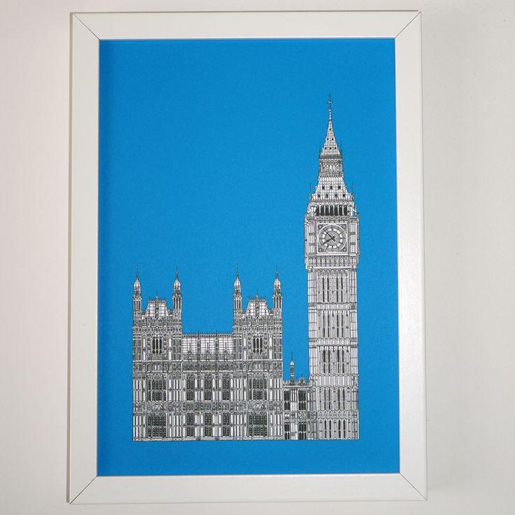 Picture of London, London Print, London Art, Big Ben drawing, London illustration, art print, England, Illustration of London by PeonyandThistle on Etsy https://www.etsy.com/listing/244529684/picture-of-london-london-print-london