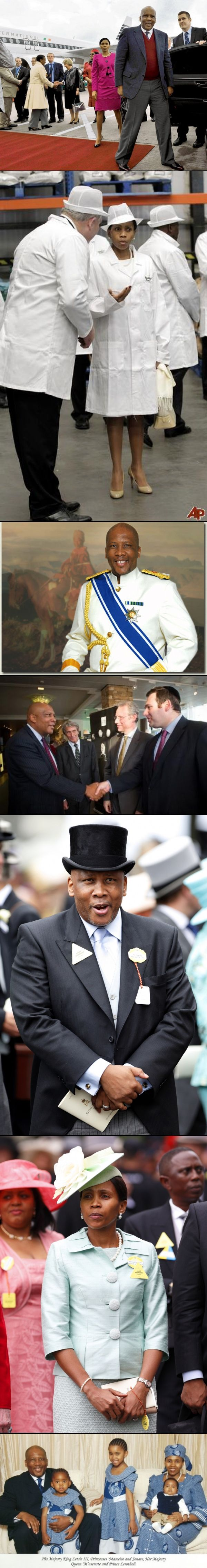 His Majesty King Letsie III of Lesotho arriving for a 3 day official visit to Ireland. During his visit, the King, who is accompanied by Her Majesty Queen Masenate Mohato Seesion, meet with President Higgins, members of the Government, NGOs and business leaders. May 2012