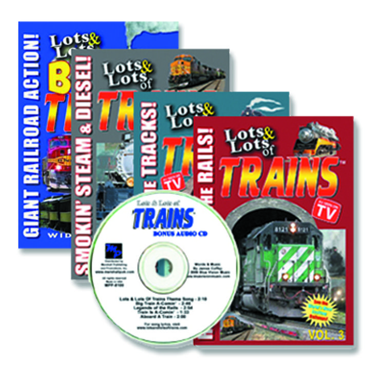 LOTS and LOTS of TRAINS 4 DVD SET plus FREE Audio CD!  Offer Not In Stores!