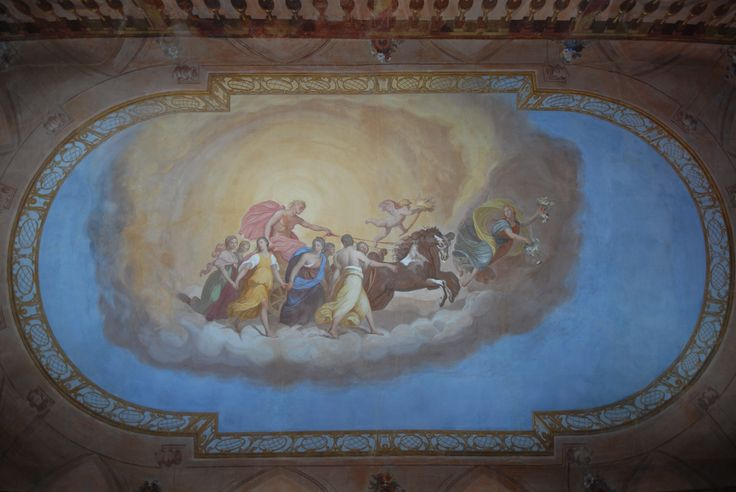 Villa di Delizia In the hall vault is portrayed the Aurora, an exact copy of Guido di Reni's fresco: the original, located in Pallavicini Rospigliosi Palace in Rome.