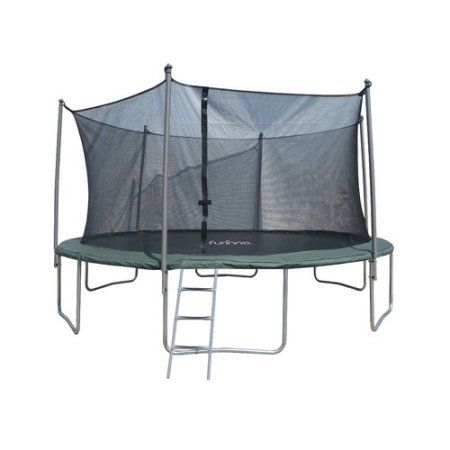 Furinno 15' Trampoline with 6 Leg, 6 Poles Enclosures and Ladder