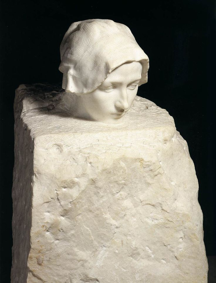 Auguste Rodin (French, 1840 - 1917) Thought (Portrait of Camille Claudel), 1886-89 marble via eatkiss