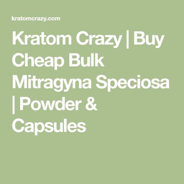 Kratom Crazy | Buy Cheap Bulk Mitragyna Speciosa | Powder & Capsules