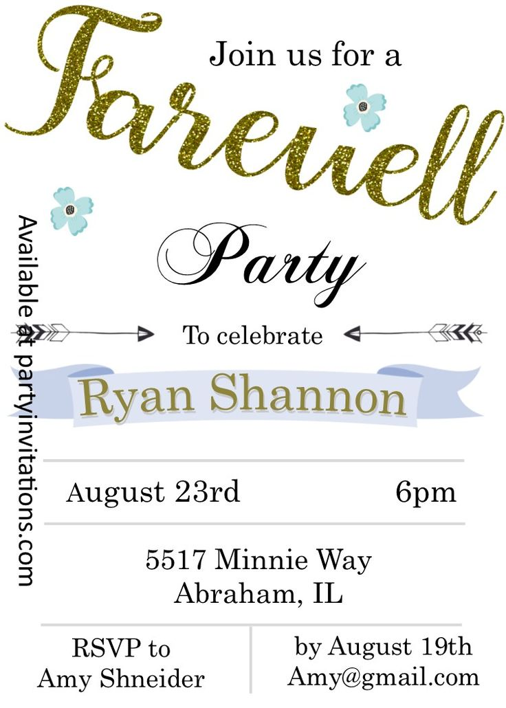 Best Farewell Invitation Images On   Farewell