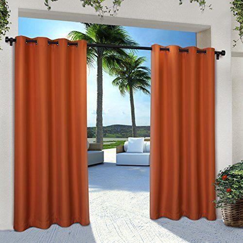 Exclusive Home Curtains Indoor/Outdoor Solid Cabana Grommet Top Window Curtain Panel Pair, Mecca Orange, 54x84 #Exclusive #Home #Curtains #Indoor/Outdoor #Solid #Cabana #Grommet #Window #Curtain #Panel #Pair, #Mecca #Orange,