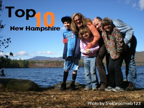 Top 10 Things for families in New Hampshire.  From skiing and hiking, to farms and fall foliage adventures, New Hampshire has your family vacation covered.