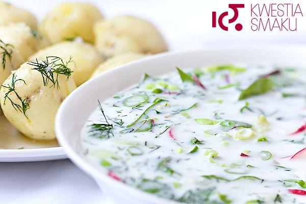 Zupa z sałaty, botwinki, rzodkiewki, ogórka i koperku. Zupa z warzyw wiosennych, surowych. Zupa  na piknik i upały.