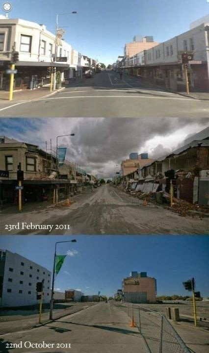 the changing face of Christchurch after the Feb 2011 earthquake