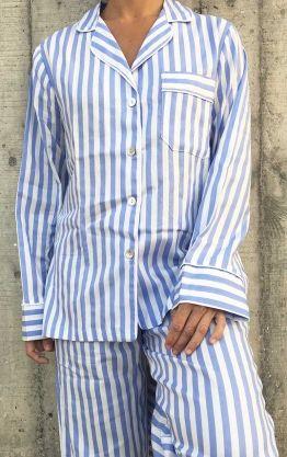 Pijama Mujer Rayas Blancas y Azules