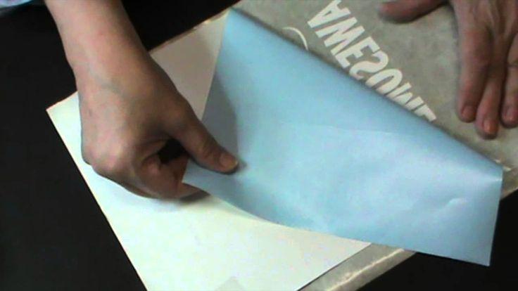 découper du vinyle avec la Silhouette et faire une carte géante pour un...