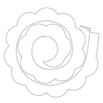Paper roses roses and templates on pinterest for Rolled paper roses template