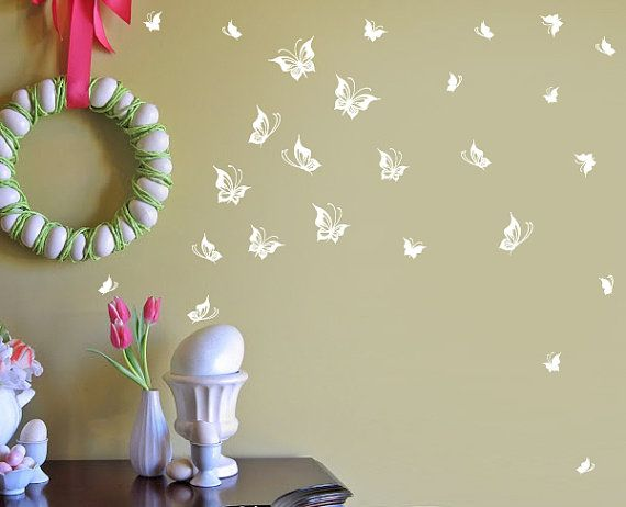 Butterfly Vinyl Decals for Windows Walls Object by InAnInstantArt, $18.00