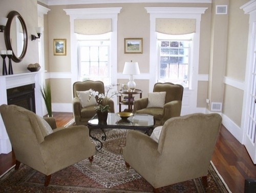4 club chairs rectangular arrangement natalie h - Seating options for small living room ...