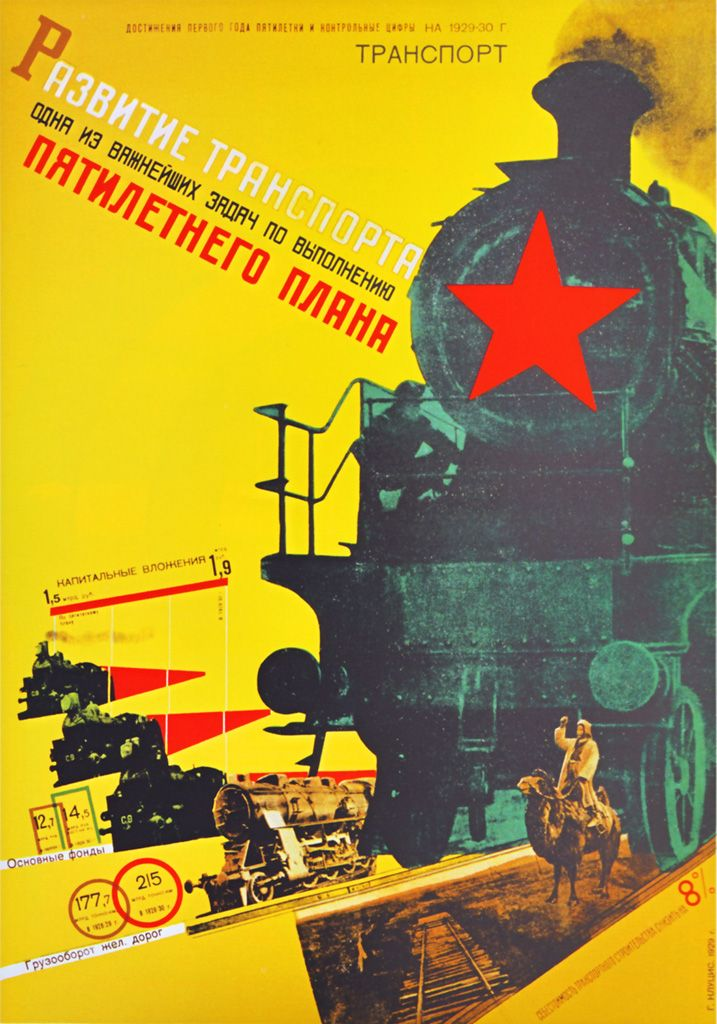 « The developpement of transport is one of the main tasks of the five-year plan. » (1929)