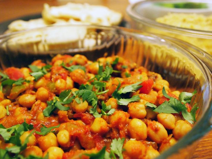 Channa masala, a spicy Indian chickpea dish (vegetarian)