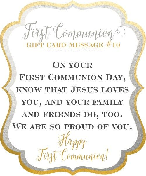 67 best all saints day images on pinterest catholic children first holy communion gift card messages fandeluxe Gallery