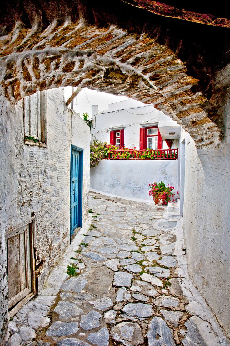 ; Amorgos : Tholaria village Greece