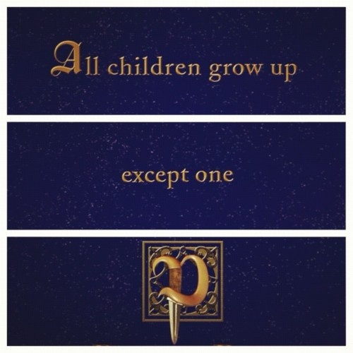I'm feeling nostalgic for my childhood and I just love Peter Pan :)
