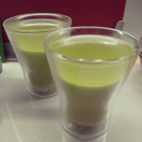 雙層綠茶奶凍