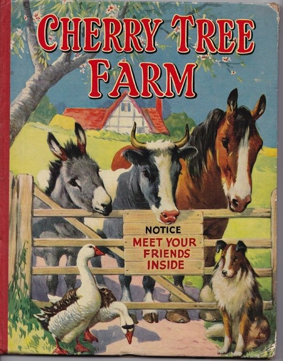 """Cherry Tree Farm"" pictured by A E Kennedy, published by The Sunshine Press c1950s."
