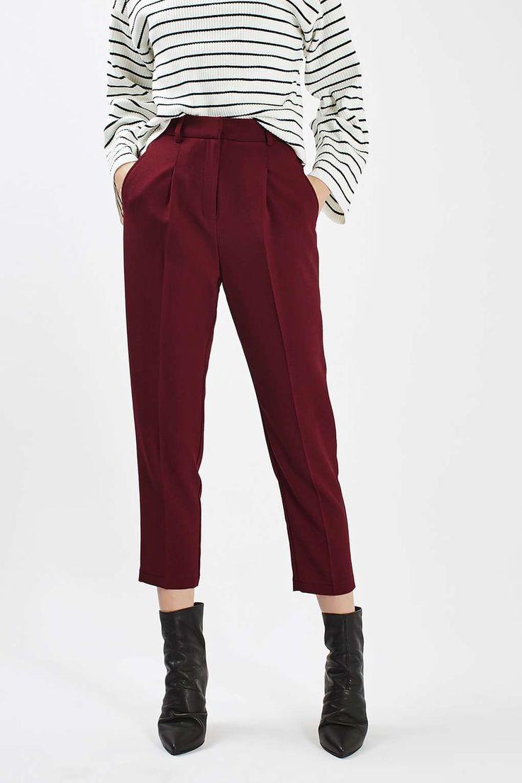 Textured Mensy Peg Trousers - Pants & Leggings - Clothing - Topshop USA