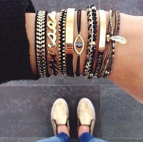 #gold #black #jewelry