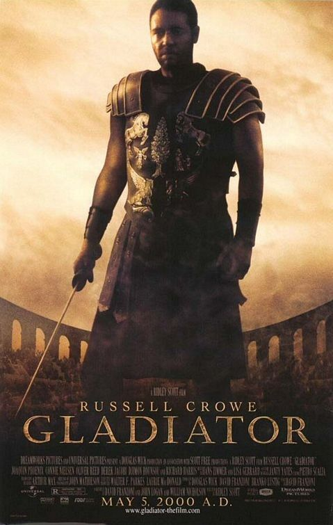 Gladiator (2000) starring Russell Crowe, Richard Harris, Connie Nielsen and Joaquin Phoenix..the real medieval film!