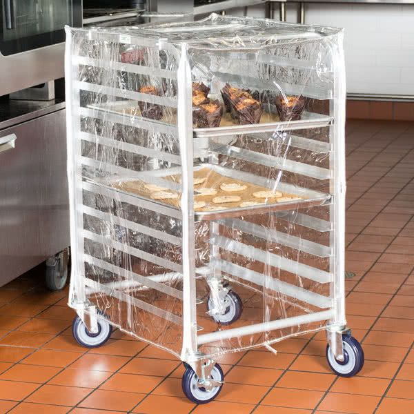 Clear Vinyl Half Size Bun Pan Rack Cover With Images Pan Rack