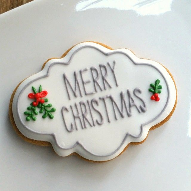 Merry Christmas Plaque Cookie // de koekenbakkers