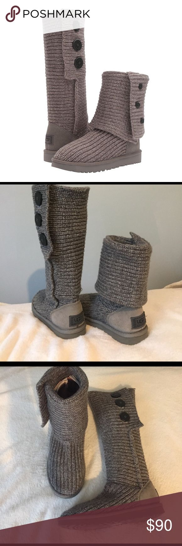 UGG classic Cardy gray fold over boots women's 6 UGG classic Cardy fold over boots! Gray. Women's 6. Barely worn, like new. Send offer through button will negotiate! No low balls please :) UGG Shoes Winter & Rain Boots