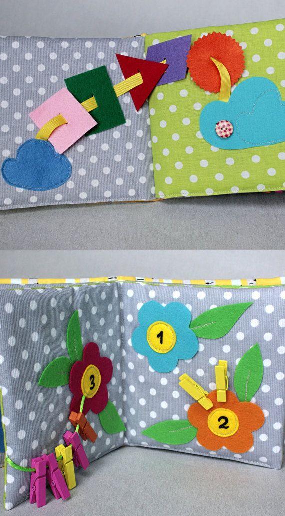 Quiet Book Fabric Activity Book Busy Book Montessori by PopelineCo
