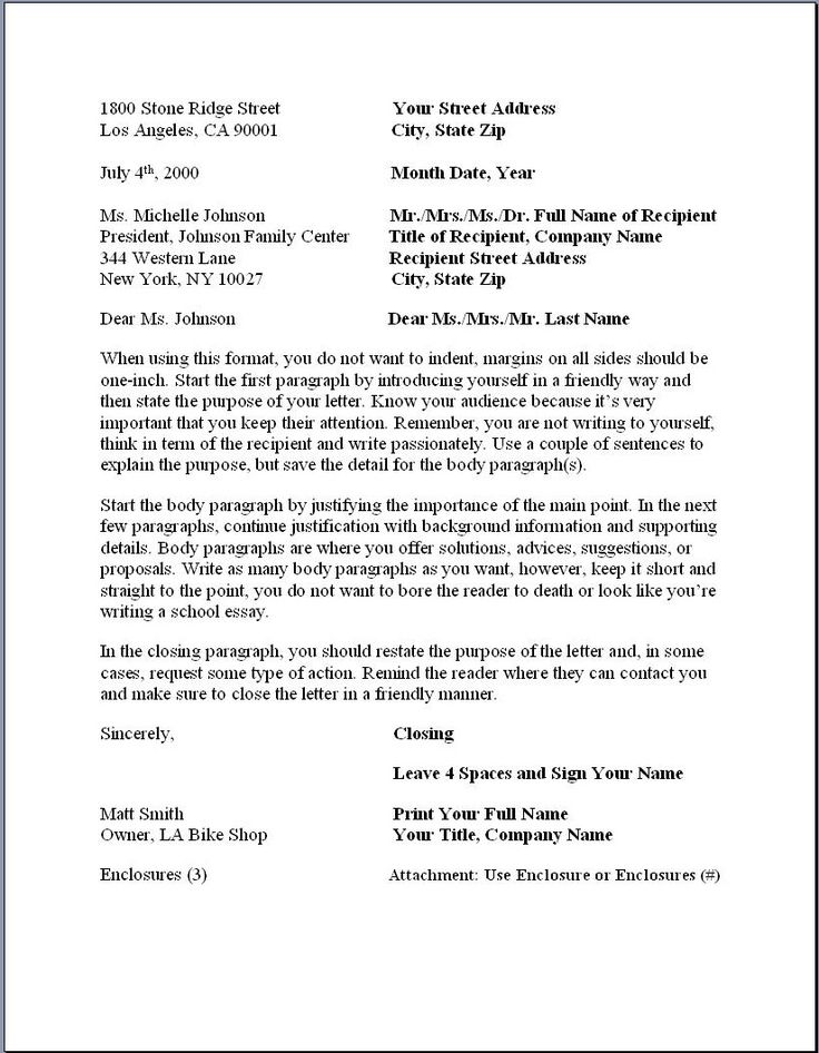 17 best ideas about Business Letter Format on Pinterest | Business ...