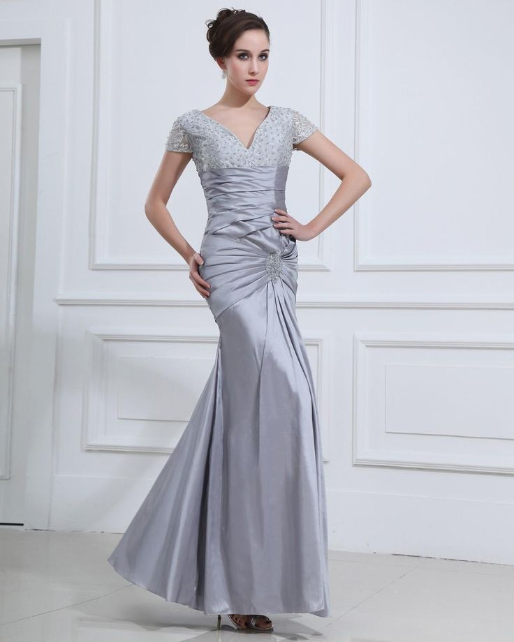 V-neck Floor Length Women's  Dress