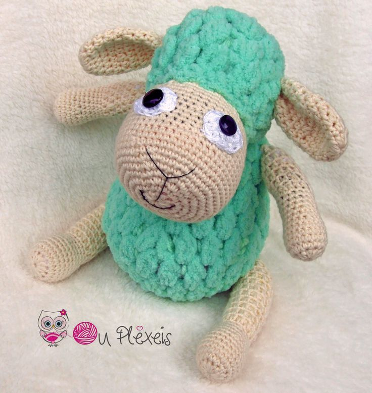 Sheep Amigurumi, Crochet Sheep Stuffed Animal, Kids Toy, Nursery Toy, Sheep Plush Amigurumi Crochet Stuffed Animal, Baby Sleeping Toy, by Ouplexeis on Etsy