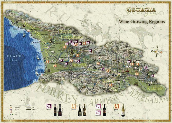 Best QVEVRI WINE Images On Pinterest Georgia Country - Georgia map europe
