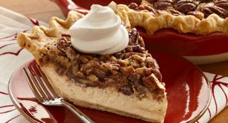 Vanilla Pecan Pie: Cheesecake meets pecan pie in this smooth and decadent…