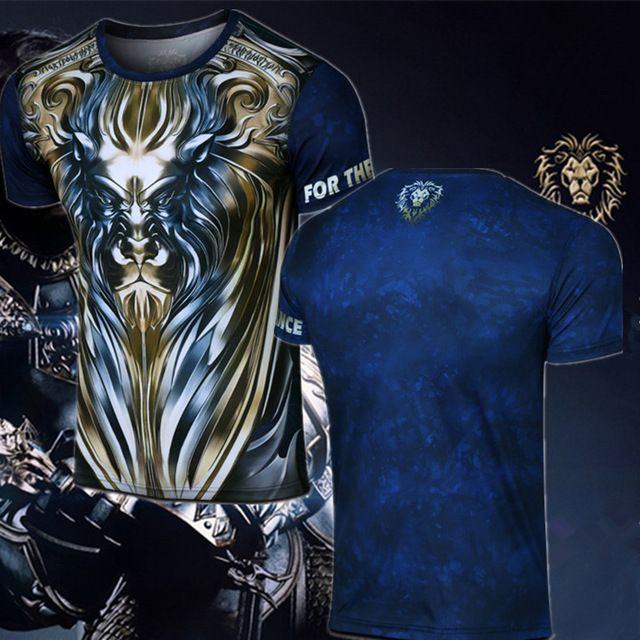 Check lastest price Boy Girl Tees Game WoW Alliance LionT Shirt Short Sleeve O-Neck WOW King Ryan T-Shirt just only $12.35 with free shipping worldwide  #tshirtsformen Plese click on picture to see our special price for you